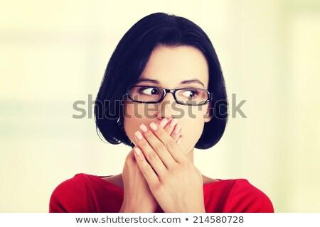 mulheres · jovens · tanto · mãos · branco - foto stock © get4net