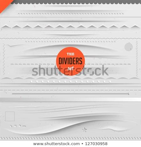 Ingesteld witte papier ontwerp communie gekruld Stockfoto © ThomasAmby