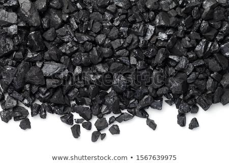Fekete szén izolált fehér ipar energia Stock fotó © DeCe