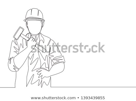 craftsman holding a hammer Stock photo © photography33