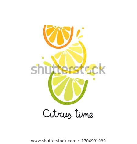 Fresh juice with lemon slice stock photo © broker