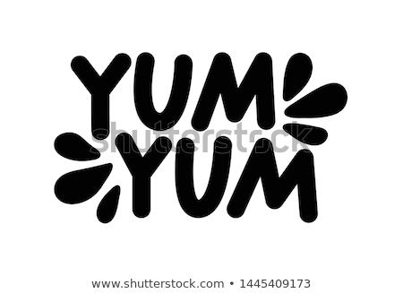 Yum mulher jovem chocolate comida mão cara Foto stock © jayfish