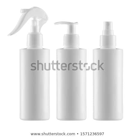 Stok fotoğraf: Plastik · şişe · sprey · beyaz · ev · kırmızı