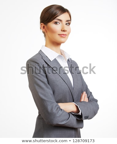 young business woman standing with crossed hands Stock photo © feedough