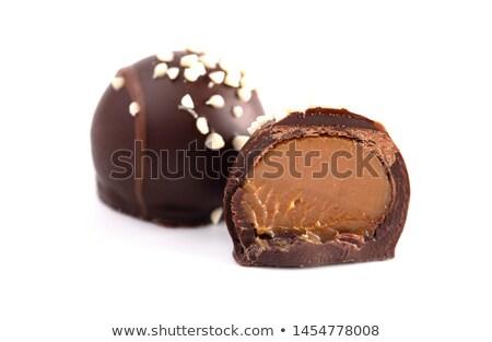 dois · chocolate · comida · doce · decorativo - foto stock © sumners