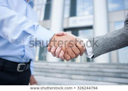 an architect and a businesswoman shaking hands stock photo © photography33