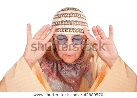 eccentric hippy woman Stock photo © smithore