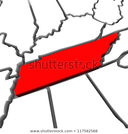 Tennessee rouge résumé 3D carte États-Unis Photo stock © iqoncept