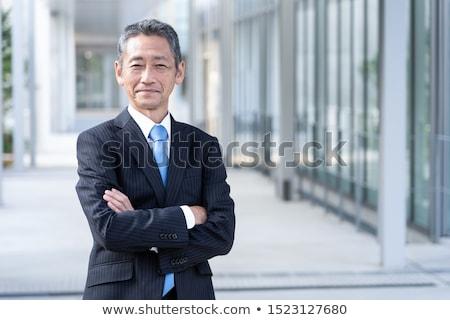 asian · starszy · biznesmen · stałego · odizolowany - zdjęcia stock © szefei