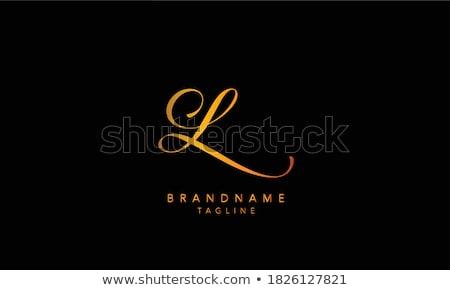 Letter l uit klein print witte schrijven Stockfoto © creisinger