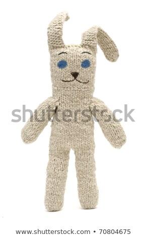 Bella maglia giocattolo coniglio baby Foto d'archivio © shutswis