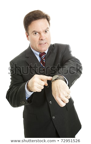 Angry boss pointing to his watch Stock photo © photography33