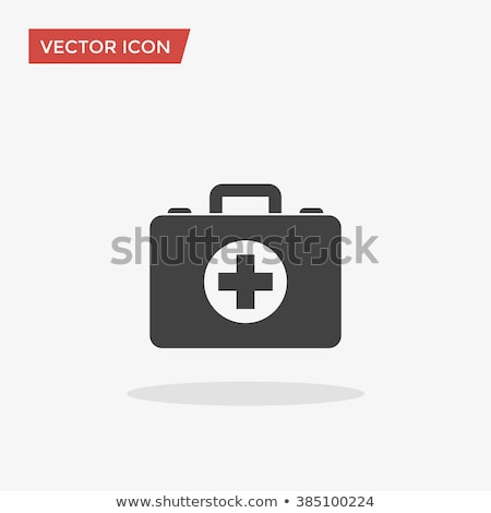 Vector icon first aid kit Stock photo © zzve