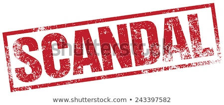 Stock photo: Scandal Rubber Stamp