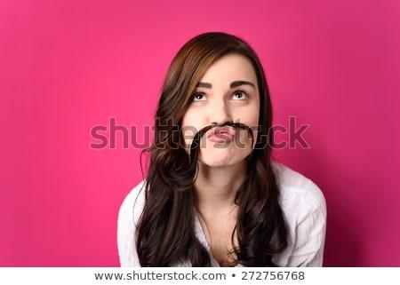 Vicces nő arc női csinos aranyos Stock fotó © wavebreak_media