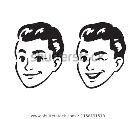 winking guy stock photo © eldadcarin
