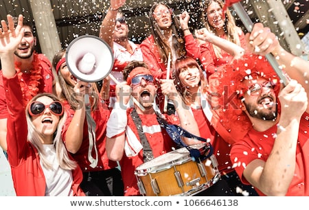 england soccer fan with flag stock photo © gubh83