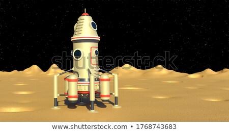 Spaceship landing Stock photo © zzve