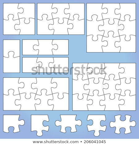 Abstract background with set colorful puzzle pieces Stock photo © smeagorl