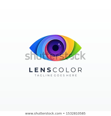 Gökkuşağı göz logo tasarımı kız dizayn siyah Stok fotoğraf © Kaludov