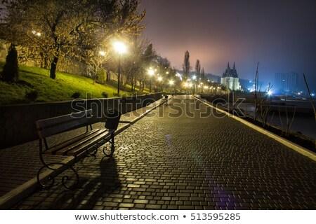 тротуаре город Живопись темно шаблон рисунок Сток-фото © zzve