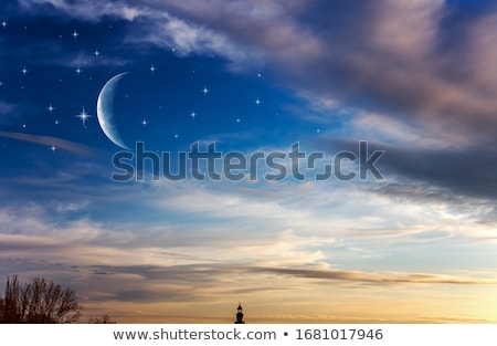 új hold égbolt Stock fotó © zzve