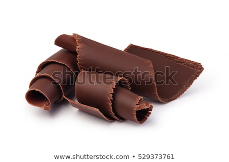 Dark chocolate shavings Stock photo © IngaNielsen