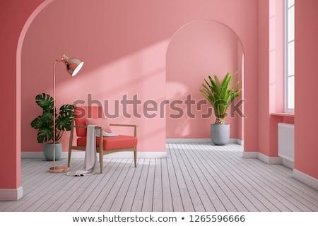 Renkli evler ev Bina güneş turuncu Stok fotoğraf © cheyennezj