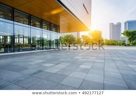 Entrada edifício moderno escada vidro casa edifício Foto stock © taden