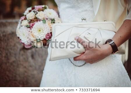 kouseband · bruid · witte · bruiloft · mode · lingerie - stockfoto © taden