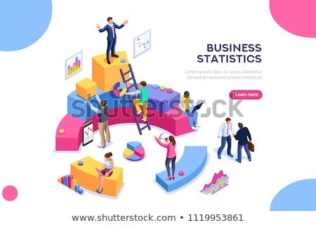Blauw · trend · succes · symbool · financiële · groei - stockfoto © tashatuvango