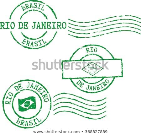 Rio de Janeiro carimbo ícone cidade construção cartão postal Foto stock © Myvector