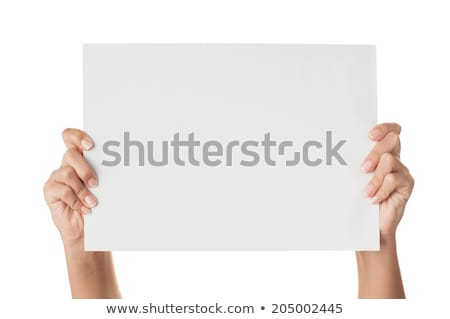 woman holding up a sign stock photo © photography33
