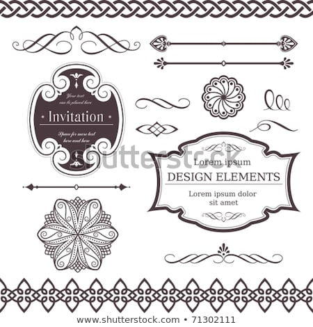 Vector Set Of Gothic And Celtic Ornament For Design Zdjęcia stock © wenani