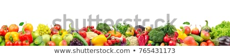Organic Vegetables Fruits And Greens Collage Stock photo © Serg64