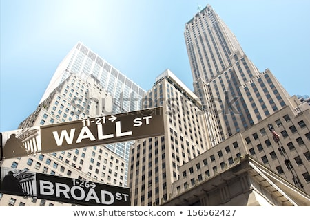 Wall street sign Stock photo © AndreyKr
