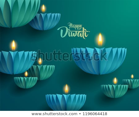 diwali diya card colorful background vector stock photo © bharat