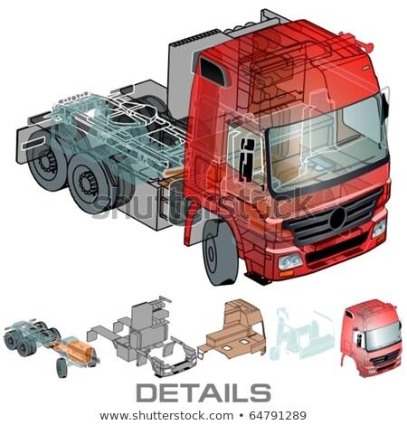 Car infographics cutaway Stock photo © mechanik