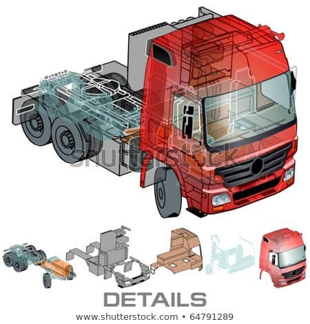 Car Infographics Cutaway Stock fotó © Mechanik