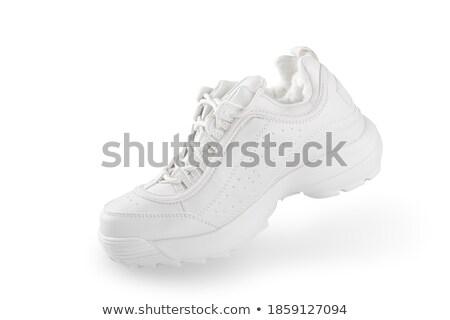 ブーツ · 赤 · 孤立した · 白 · セクシー · 美 - ストックフォト © kravcs