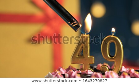 Burning birthday candles number 49 Stock photo © Zerbor