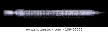 Automático lápiz Xray hacer aislado negro Foto stock © cherezoff