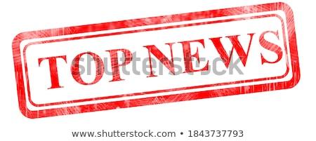 Codziennie wiadomości czerwony puzzle biały Internetu Zdjęcia stock © tashatuvango