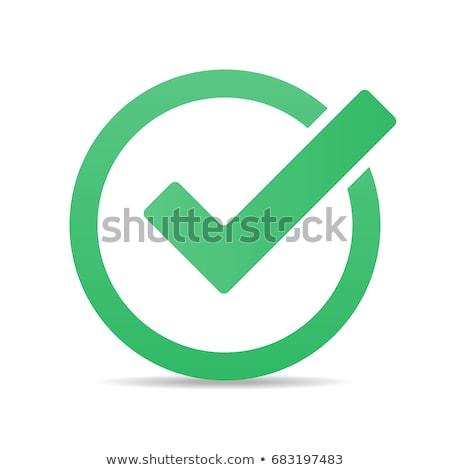 Vector checkmark icon Stock photo © nickylarson974