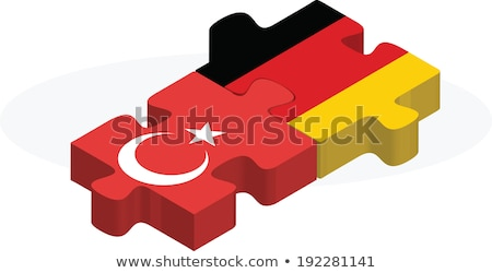 German and Turkish Flags in puzzle Stock photo © Istanbul2009