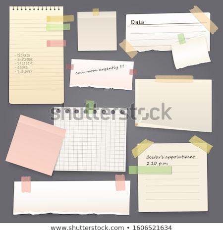 Spinacz Uwaga zestaw obraz stali różowy Zdjęcia stock © cteconsulting