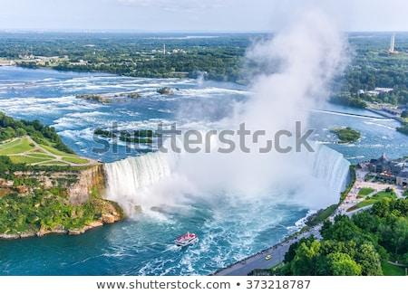 Niagara Falls regenboog Canada water natuur schoonheid Stockfoto © Hofmeester