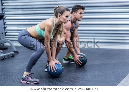 Man with a toned muscular physique Stock photo © stryjek