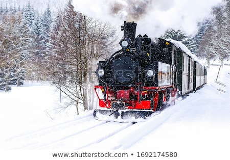snow covered train tracks stock photo © alex_grichenko