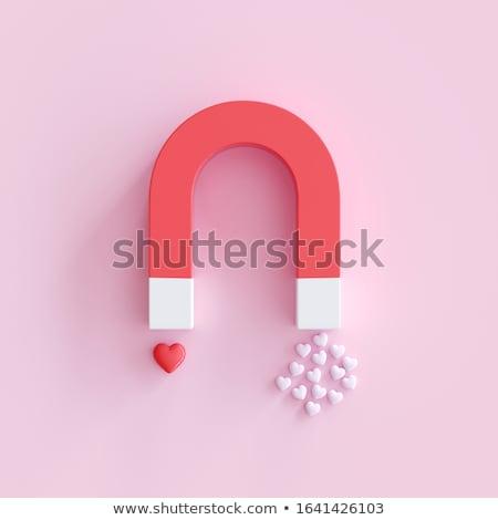 Cuore magnete 3D generato foto romance Foto d'archivio © flipfine